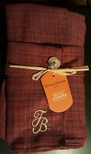 TOMMY BAHAMA CLOTH NAPKINS RUST TWEED Embroidered TB Logo Set of 4 NEW!!!