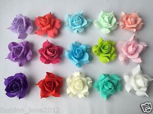 100pcs Foam Roses Various Colors Flower Heads For Flower Kissing Balls Pomanders