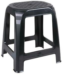 Large Rattan Stackable Black Stools Step Stool Plastic Indoor Outdoor Chair