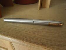 Vintage Sheaffer gold  feather 14 K  steel Chrome fountain pen Usa stylo plume
