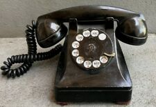 VINTAGE SQUARE BLACK WESTERN ELECTRIC ROTARY PHONE