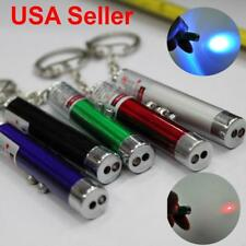 2 In1 Mini Red Laser Pointer Pen With White LED Light Child Pet Cat Toy Keychain
