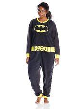 N.W.T DC Comics Women's Ladies One Piece Pajama Batgirl,Batmen Size Large
