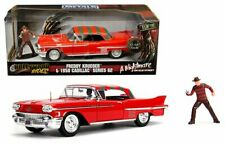 Jada 1:24 Nightmare on Elm Street 1958 Cadillac Series 62 Freddy Krueger figure
