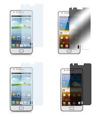 4 x Samsung Galaxy S2 Klar + Matt + Spiegel + Blickschutz Displayschutzfolie