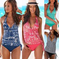 Women Bikini Tankini Set Swimsuit Swimwear Push Up Padded Beach Swimming Costume