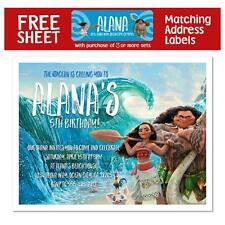 8 Moana Movie Birthday Party Favors Personalized Invitations
