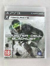 PS3 Tom Clancy's Splinter Cell Blacklist (2013), UK Pal, New & Factory Sealed