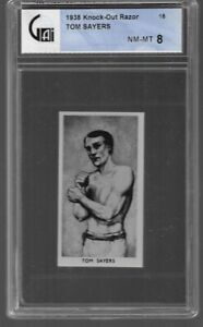 1938 KNOCK OUT RAZOR # 15 TOM SAYERS NM-MT 8 GAI FAMOUS PRIZE FIGHTERS