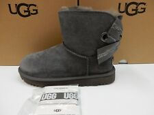 UGG WOMENS BOOTS CUSTOMIZABLE BAILEY BOW MINI CHARCOAL SIZE 7