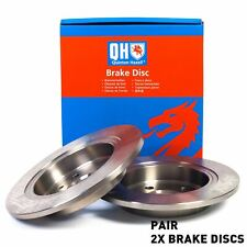 For Honda Accord Mk 4 IV 2.0 2.2 1990-1993 Rear Axle Solid QH Brake Disc Pair