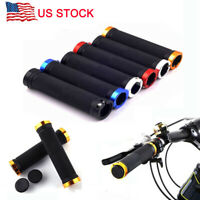 Anti-slip Gel Bicycle Rubber Handlebar Grips Fixed Gear Bike Double Lock-on