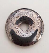 Donut Hématite 35mm pour pendentif (aspet or marbré)