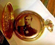 LONGINES 18K Gold Presentation Pocket Watch Albert I King Of Belgium