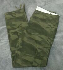 NWT Abercrombie & Fitch Mens Slim Straight Camo Cargo Pants ~ 30 x 32