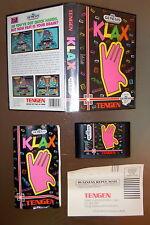 KLAX Sega Genesis Tengen 1990 Fabriqué au Japon