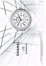 PUBLICITE ADVERTISING 2006   CHANEL  collection J 12 diamants montres  (2 pages)