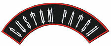 "13"" Custom Embroidered Top Rocker Patches Biker Sew or Iron on Patches"