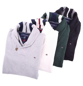 Tommy Hilfiger Men Classic Fit Shawl-Neck Solid Golf Sweater - Free $0 Shipping