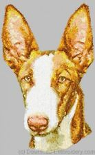 Large Embroidered Zippered Tote - Ibizan Hound Dle1554