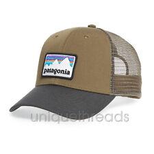 fc5b2e2ce5d Patagonia Mens - Shop Sticker Patch LoPro Trucker Hat Cap - Dark Ash