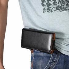 Estuche Funda Caja de Piel Negro de Pantalon Para Samsung Galaxy Note 2 3 4 5