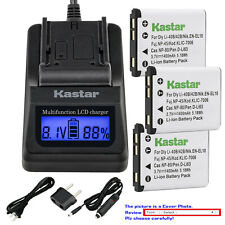 Kastar Battery LCD Fast Charger for NP-45A NP-45B NP-45S Fujifilm FinePix JZ100