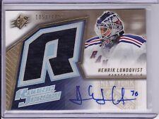 2005-06 SPx Henrik Lundqvist RC Rookie Autograph Jersey
