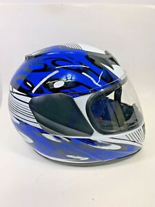 typhoon snowmobile/ATV  helmet Barely Used Great Shape Blue/White Youth XL
