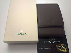 ULTRA RARE ROLEX LEATHER TRAVEL BOX 1 SLOT GENUINE 100%