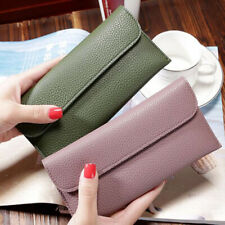 Simple Trendy Retro Wallet Card ID Case Cover Women's Mobile Phone Pouch CO
