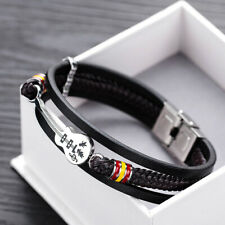 Guitar Bracelet Leather Braided Rope Multi Layer Bangle Punk Jewelry Gift