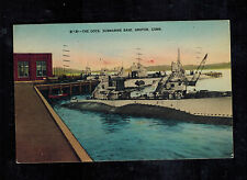 1944 Danvers MA Picture Postcard Navy Submarine USS S20 Groton Connecticut Dock