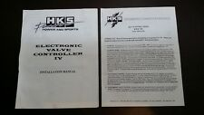 HKS EVC IV Electronic Valve Controller ENGLISH INSTALLATION MANUAL boost control