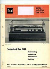 Dual Service Manual DUAL TG 27 Tonbandgerät