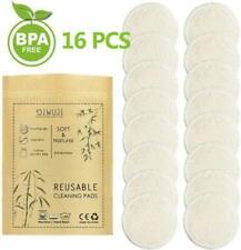 Reusable Bamboo Makeup Remover Pads, Organic Cotton Rounds Microfiber Face Clean