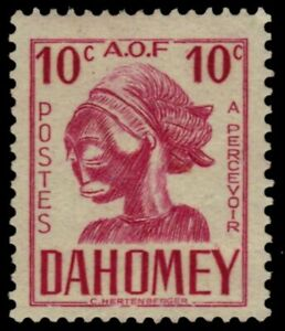 """DAHOMEY J28A - Carved Mask """"Postage Due"""" RF Removed (pb19679)"""
