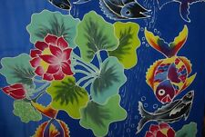 EXCLUSIVE HIGH QUALITY UNIQUE HAND PAINTED ARTIST SIGNED SARONG PAREO SHAWL SRI