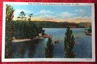 Lake Champlain and the Palisades from Basin Harbor Vermont Post Card Vintage