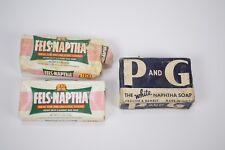 3 bars of vintage Naptha soap - Fels-Naptha P&G Procter and Gamble