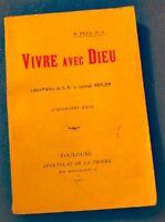 R. PLUS vivre avec dieu - Cardinal Mercier 1927 Apostolat Toulouse++