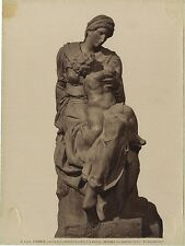 Florence Firenze Madonna Sculpture Michel-Ange Italie Vintage albumine ca 1880
