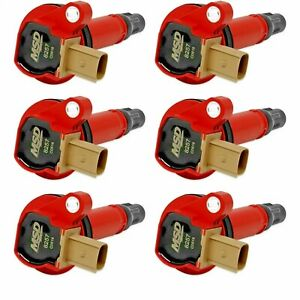 MSD Ignition for Ford 3.5L EcoBoost V6 Red Coils 6-Pack 3-Pin Connector (82576)