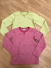 Girls Polarn O Pyret Pink & Green Tops 8-10 Years