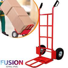 Hand Trolley Sack Truck Heavy Duty Industrial Barrow Cart Pneumatic Wheel 600LB