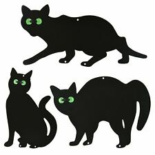More details for 3pk metal cat scarers marble eyes bird animal fox pest repeller rodent deterrent