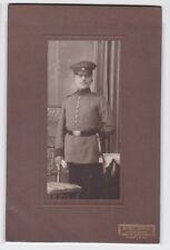 81967 Kabinett Foto Soldat mit Seitengewehr und Portepee Leipzig Gohlis