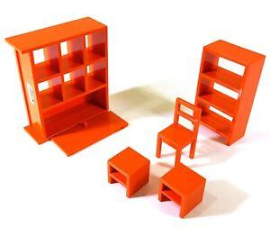 IKEA Maison de Poupées Meubles Orange Salon O685