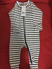 BNWT Bonds Zip Wondersuit Black and White Stripe Size 00