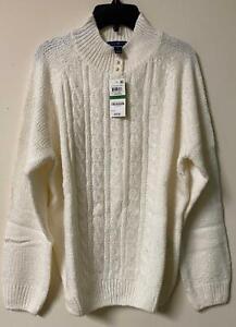 Karen Scott Womens Pullover Sweater Cream Long Sleeve New all sizes